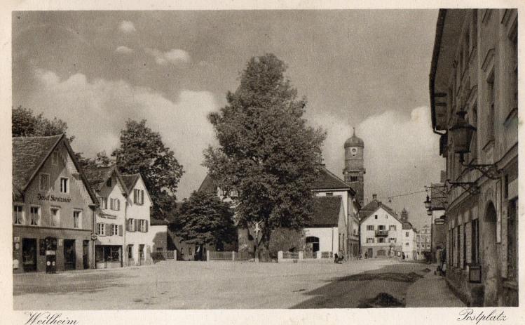Postplatz Weilheim 1893