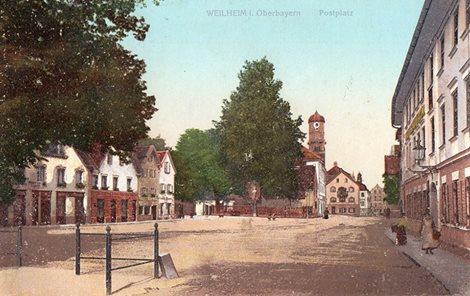 Postplatz Weilheim 1923